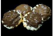 Dark and Milk Chocolate Covered Macaroons Mix (dozen)